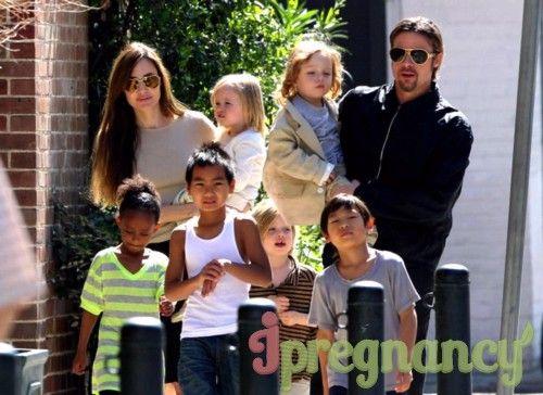 Familie Jolie-Pitt în plin