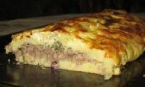 картофельная запеканка с мясом (от 1.5 года до 3 лет)