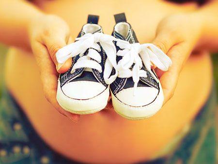 Вашият номера на обувките може да се увеличи по време на бременността, поради натоварването на тест