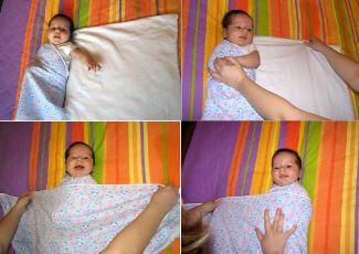 Фотосхема — как пеленать новорожденного, mymummy.ru