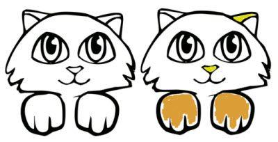 рисунки с котятами - распечатать <strong>раскраска</strong> для раскраски