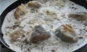 рыба под сметанным соусом (от 1.5 года до 3 лет)
