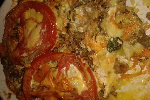 запеканка из Картофельного пюрэ - рецепт с фото.